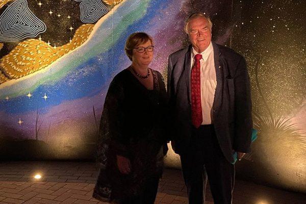 Senator Linda Reynolds and his Excellency Governor Kim Beazley at Worl Wangkiny. Image Credit: Senator Linda Reynolds's Office
