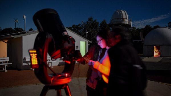Attendee using the CPC1100 Telescope to record Jupiter. Image Credit: Matt Woods