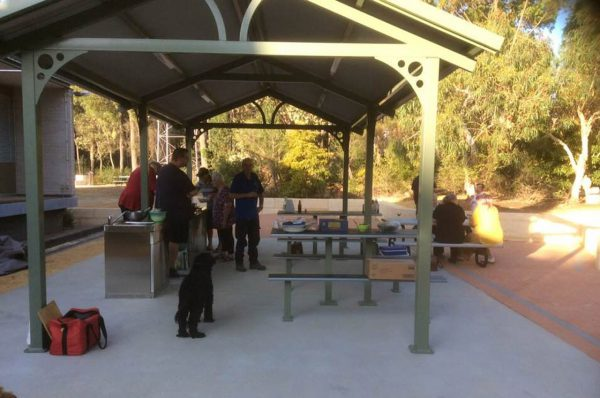 The barbecue area. Image Credit: Rob Kennedy