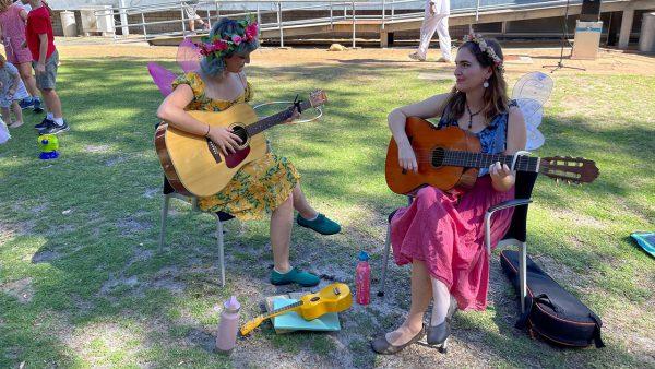 Fairies playing music. Image Credit: Dr Jan Baldwin