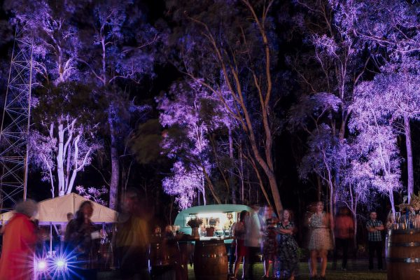 The reception at night. Image Copyright: Michelle Lucking (Lucking Photography)