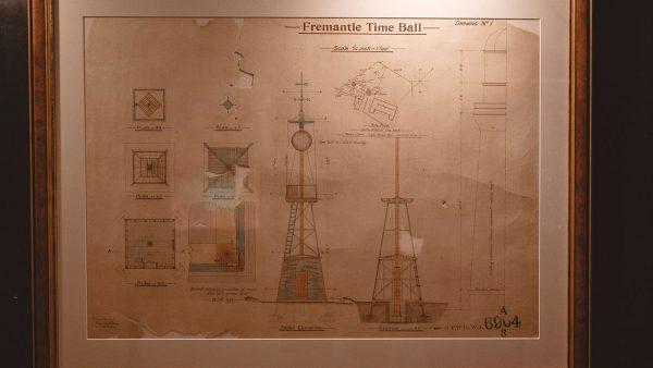 The plans for the Fremantle Time Ball. Image Credit: Zal Kanga Parabia
