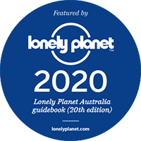 Lonely Planet 20th edition badge