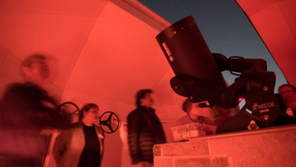 The Meade 14 telescope on a Night Sky Tour. Image Credit: Roger Groom