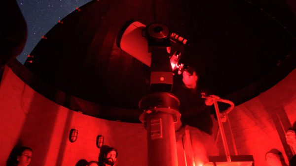 The Meade 16 telescope on a Night Sky Tour. Image Credit: Roger Groom