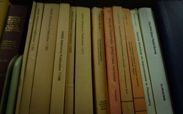 NASA reference books. Image Credit: Matt Woods