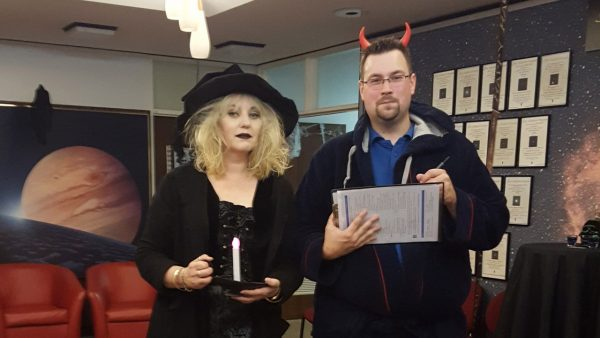 Perth Observatory volunteers dressed up on the Halloween Night Tour. Image Credit: Steve Ewing