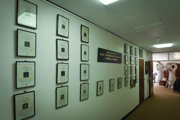 Star Adoption wall of fame. Image Credit: Matt Woods