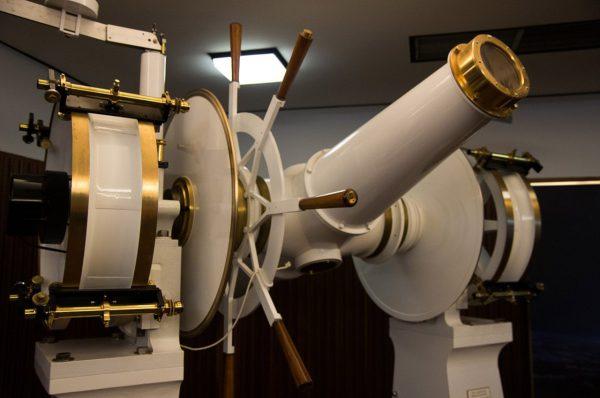 The Transit Circle Meridian Telescope. Image Credit: Steve Parkins