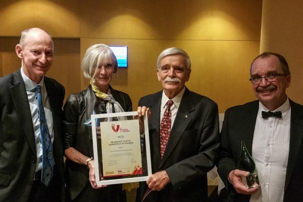 Our Volunteer WA award. Image Credit: Volunteer WA