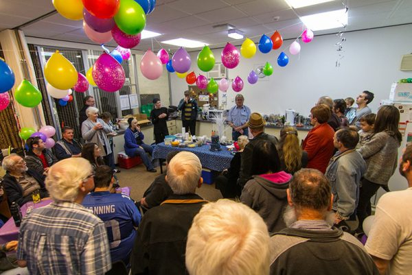 The volunteers group's 21st birthday party. Image Credit: Geoff Scott